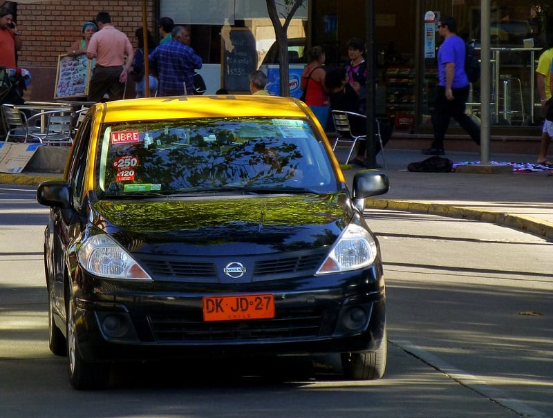 Gorjetas nos táxis de Santiago