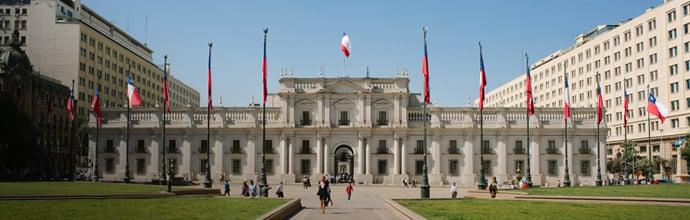 Palacio de La Moneda em Santiago do Chile