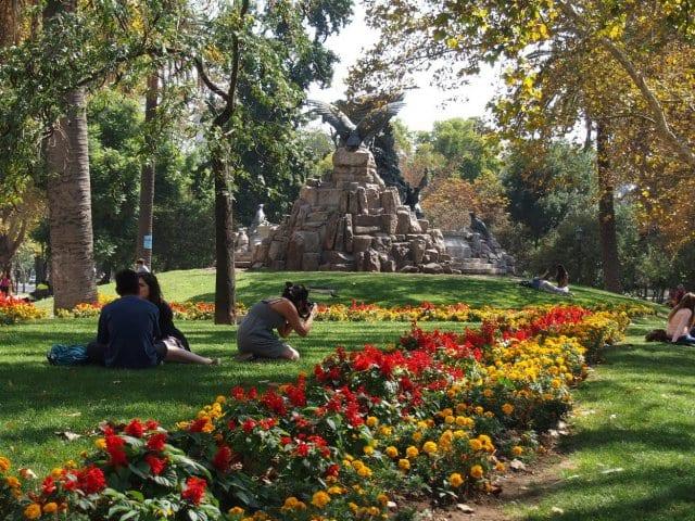Parque Florestal em Santiago do Chile