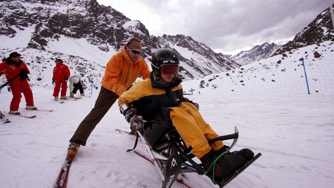 Valle Nevado para deficientes físicos em Santiago