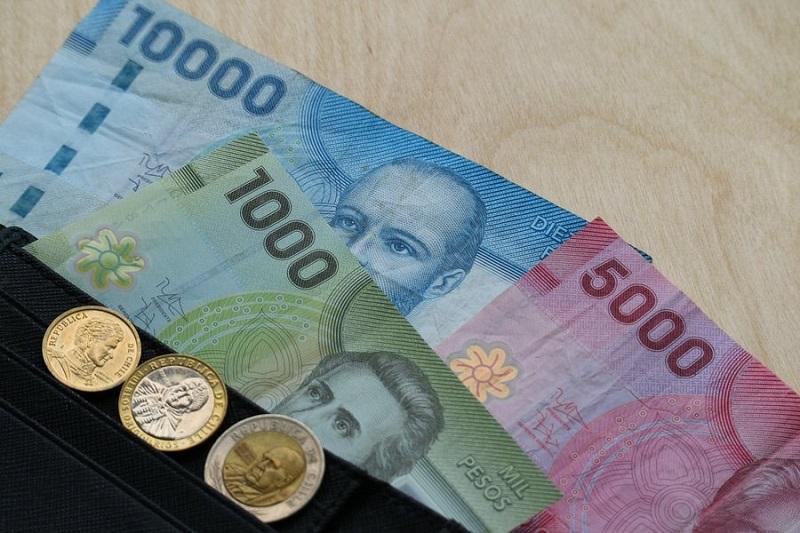 Peso chileno na carteira