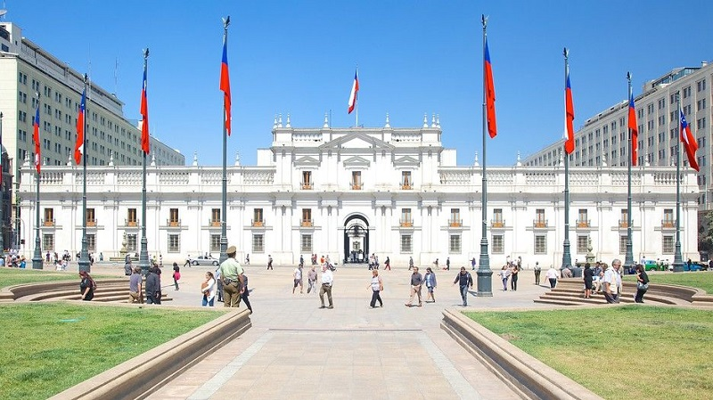 Passeio no Palácio de La Moneda em Santiago