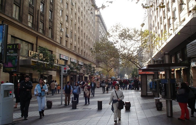 Paseo Ahumada - Santiago
