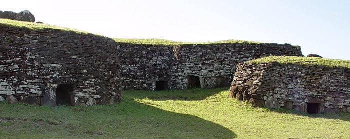 Parque Nacional Rapa Nui na Ilha de Páscoa no Chile: Orongo