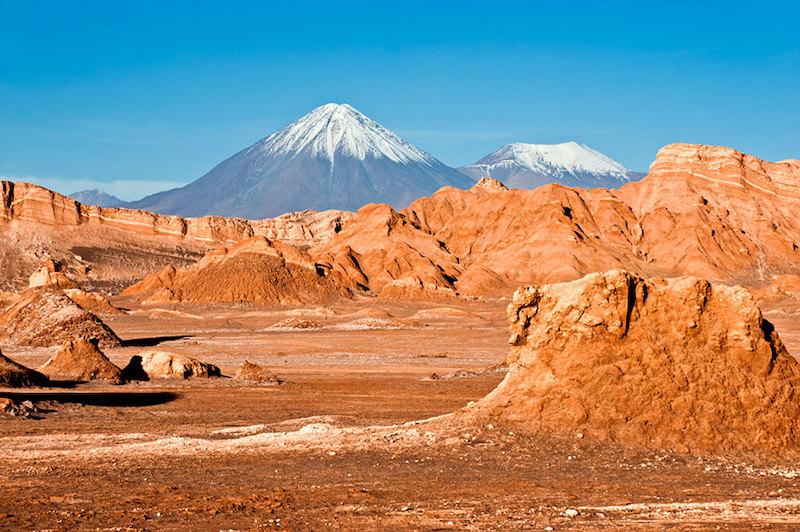 Valle de Marte em San Pedro de Atacama no Chile