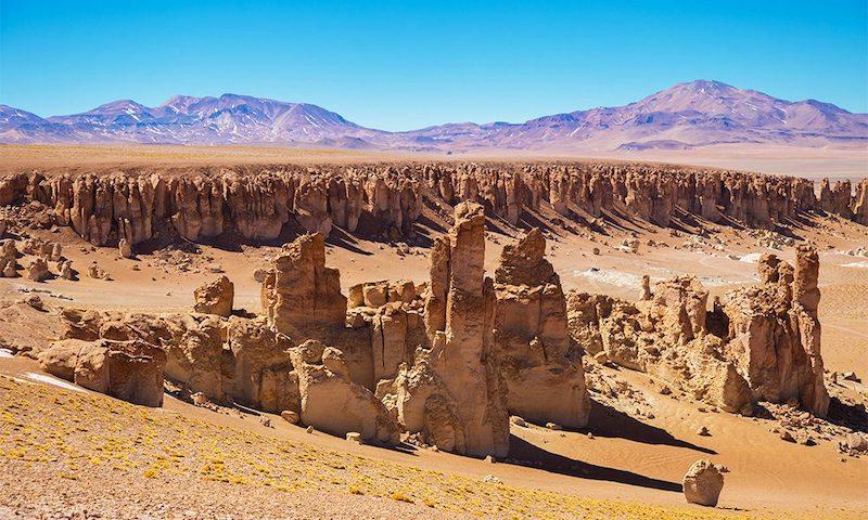 Salar de Tara em San Pedro de Atacama no Chile: Catedrais de ceniza