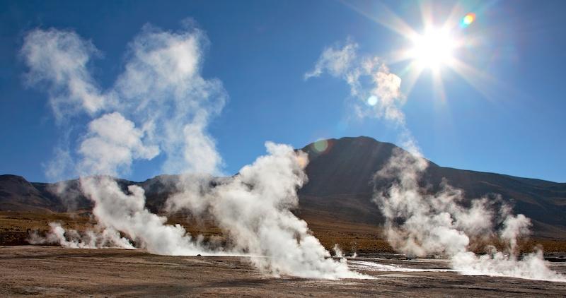 Geyser del Tatio em San Pedro de Atacama no Chile