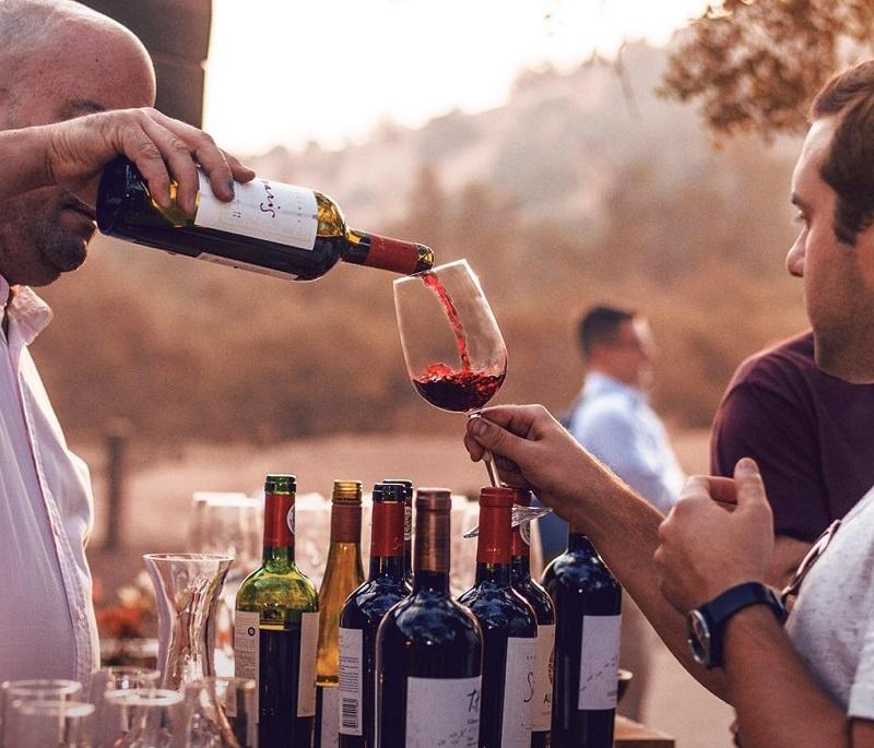 Degustação de vinho na vinícola Undurraga no Chile