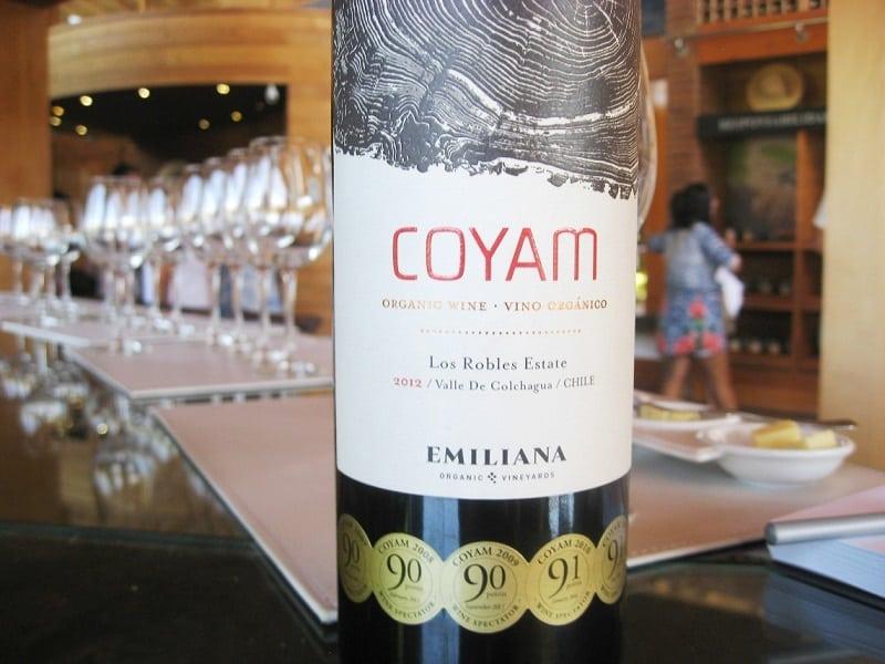 Vinho Coyam - Vinícola Emiliana no Chile