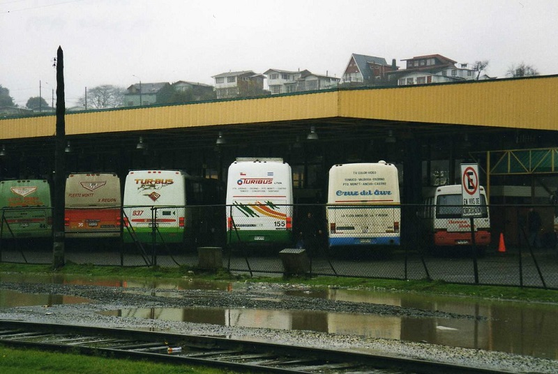 Terminal de ônibus em Puerto Montt